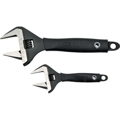 "Hand Tools Kennedy.6""/10"" WIDE JAW ADJUSTABLE WRENCH SET 1 ken5015200k"