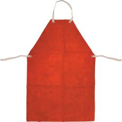 KennedyRed Chrome Leather Welders Apron With Ties 24 x 36