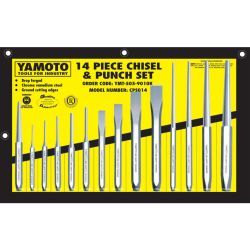 YamotoCHROME VANADIUM CHISEL  PUNCH SET 14PCE